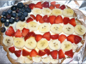 Healthier American Pie (aka fruit pizza!)