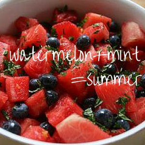 Try adding fresh mint leaves to your fruit salad. It tastes like summer!