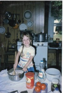 As a kid, Rebekah was already hard at work cooking